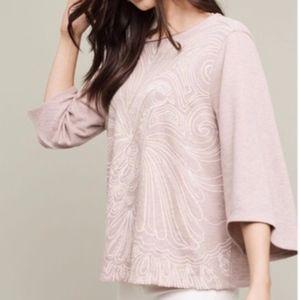 Akemi + Kin Pink Onira Bird Bell Sleeve Top